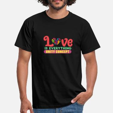 Concept Love is everything - Men's T-Shirt
