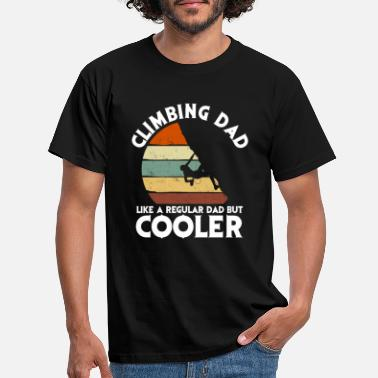 Climbing Climbing Dad Climber Father Father's Day Gift - Maglietta uomo