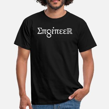 Chemical Symbol ENGINEER Design with Symbols - Men's T-Shirt