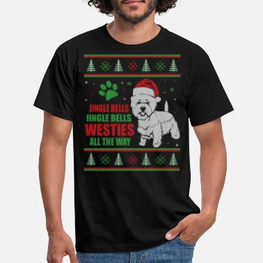 Westie Ugly Christmas Westie West Highland Terrier - Men's T-Shirt