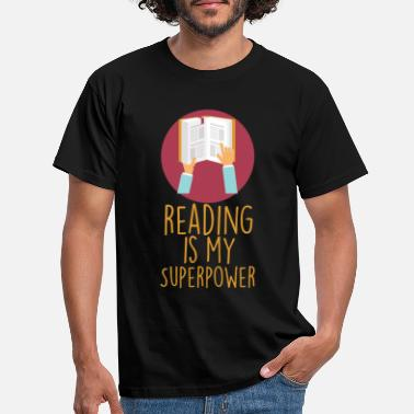 Book Book lovers, reading is superpower - Men's T-Shirt
