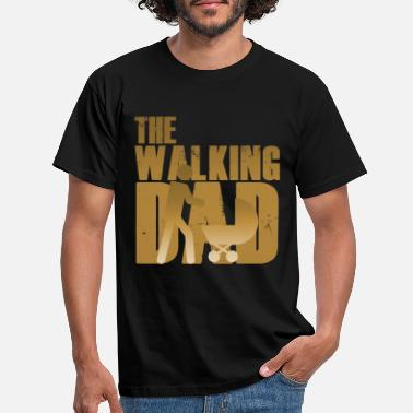 Day Walking Dad Father Daughter Son Father's Day Kado - T-shirt herr