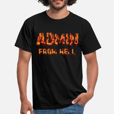Hell Admin from hell - Männer T-Shirt