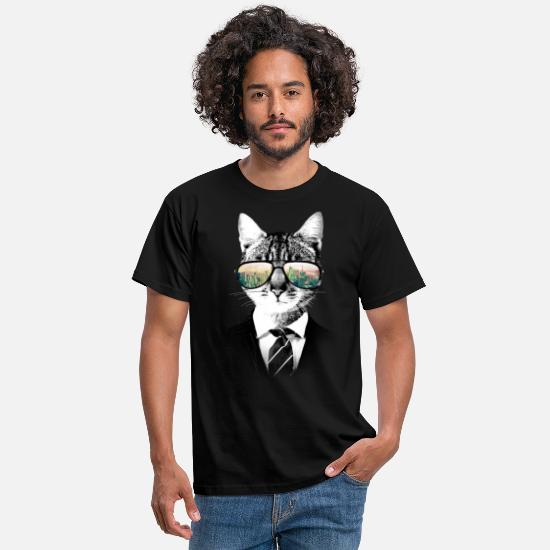 Chat T-shirts - NYC Cat - T-shirt Homme noir