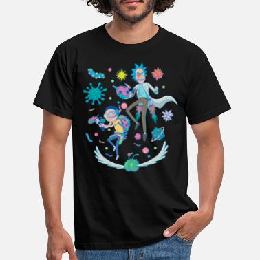 Rick And Morty Fight in Space - Men's T-Shirt