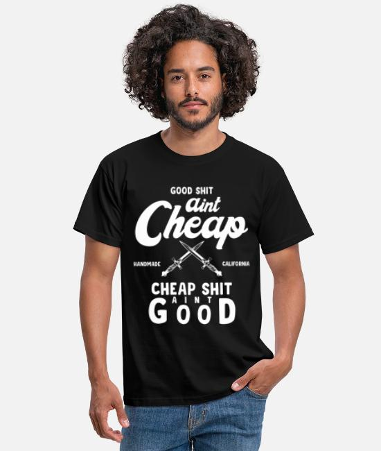 Red White T-Shirts - Cheap Graphic - Men's T-Shirt black
