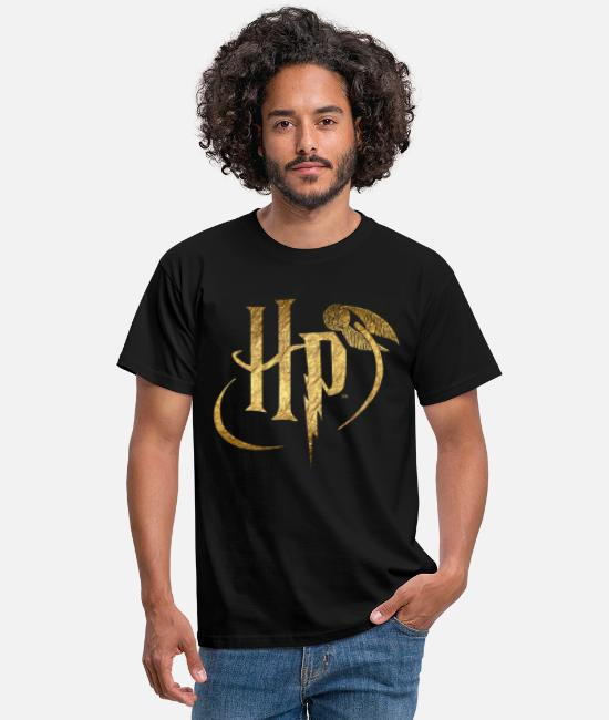 Gold T-skjorter - Harry Potter Logo Gold - T-skjorte for menn svart