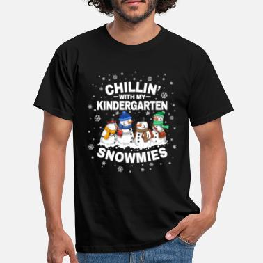 Pupille Chillin 'With Kindergarten Snowmies Christmas - T-shirt Homme