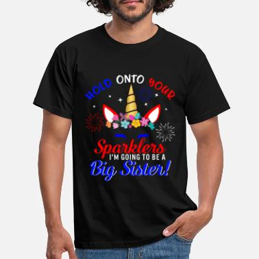 Independent Big Sister Sparkler 4th of July Cute Unicorn - Men's T-Shirt