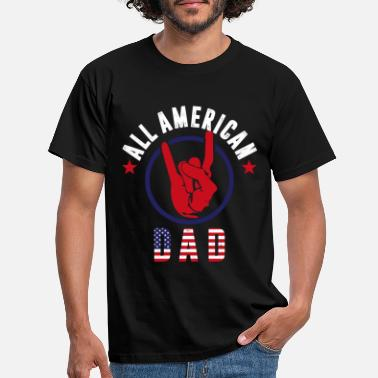 Stat All American Dad 4 juli Father's Day America - T-shirt herr