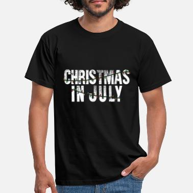 Depp Kerstmis In Juli Xmas Tree Lights Santa Beach - Mannen T-shirt