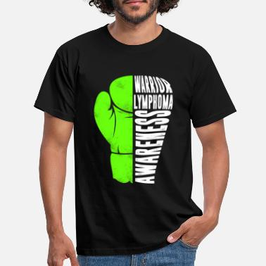 Fight Cancer Non Hodgkins Lymphoma Warrior Boxing Gloves - Men's T-Shirt