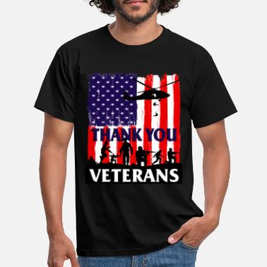 Military Thank You Veterans Day Celebration Vintage - Men's T-Shirt