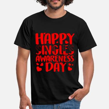Single Happy Singles Awareness Day Shirt AntiValentine - Männer T-Shirt