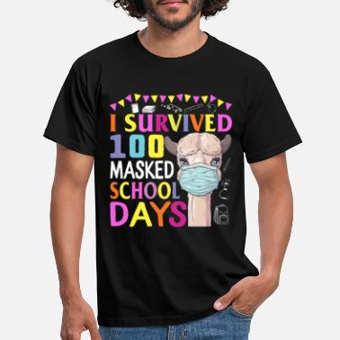 Day I Survived 100 Masked School Days Shirt 100th Day - T-shirt herr