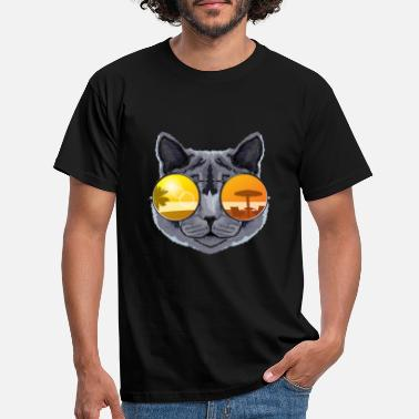 Cool Solbriller cool british shorthair kat gave - T-shirt mænd