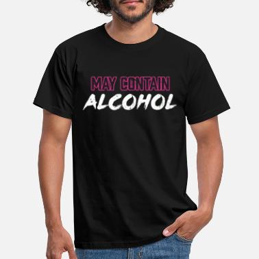 Beerathlon May Contain Alcohol Beer Sarcasm Graphic - Men's T-Shirt