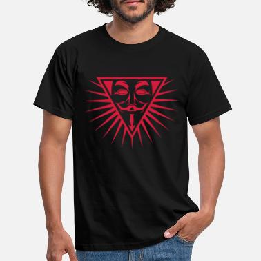 Hacking Revolution Democratie Anonymous NWO logo 1c - T-shirt Homme