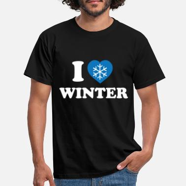 Cold I Love winter (white) - Men's T-Shirt