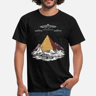 Spreadshirtlikes Pyramides Egyptiennes Conspiration des extraterrestres Antarctique OVNI - T-shirt Homme