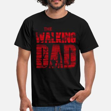 The Walking Dad with stroller (rood) - Mannen T-shirt