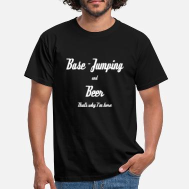 Jumping base jumping - Männer T-Shirt