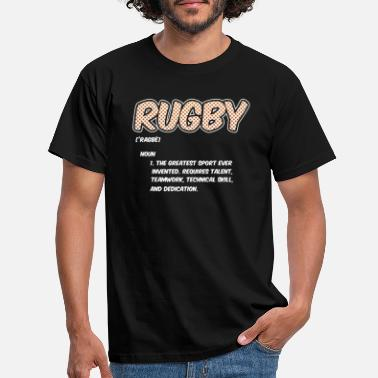 Rugby Rugby Definition Greatest Sport Ever Funny Athlete - Men's T-Shirt