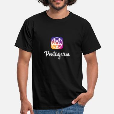 Instagram pentagram / instagram - T-skjorte for menn