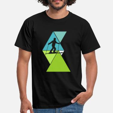 Ski Slope Skiing ski slope - Men's T-Shirt
