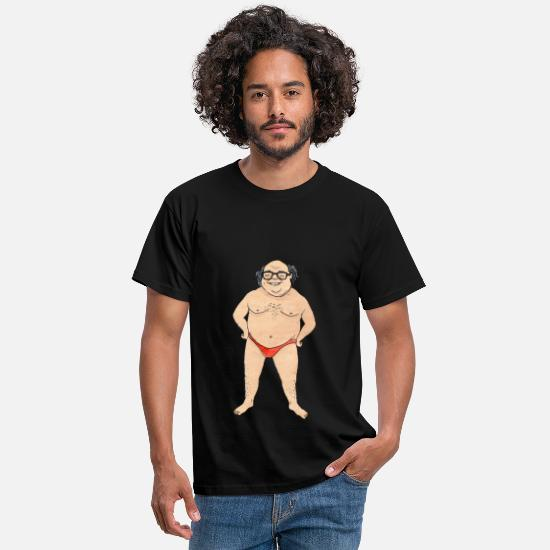 Danny Devito T-Shirts - Danny Devito in a speedo - Men's T-Shirt black