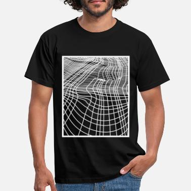 Grid Optical Ilusion - Men's T-Shirt