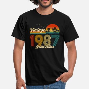 Born In January Vintage 1987 T-Shirt Limited Edition 33 Birthday M - Men's T-Shirt