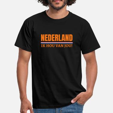Holland Nederland Ik hou van jou! Dutch Koningsdag Holland - Männer T-Shirt