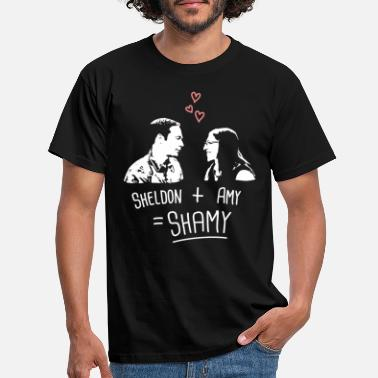 Paare The Big Bang Theory Sheldon + Amy = Shamy - Männer T-Shirt