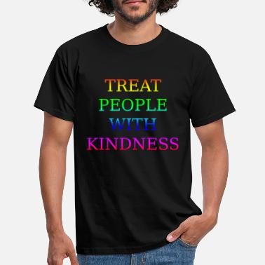 Harry Styles TREAT PEOPLE WITH KINDNESS Harry Merch Rainbow - Men's T-Shirt