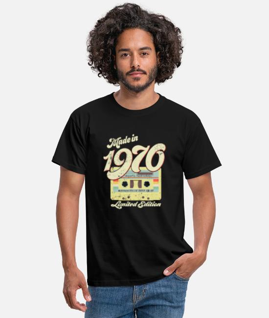 Month T-Shirts - Vintage cassette 1970 - Men's T-Shirt black
