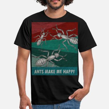 Ants Ant worker insect animal nature retro gift - Men's T-Shirt