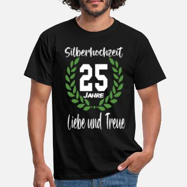 Silver 25 years silver wedding - Men's T-Shirt