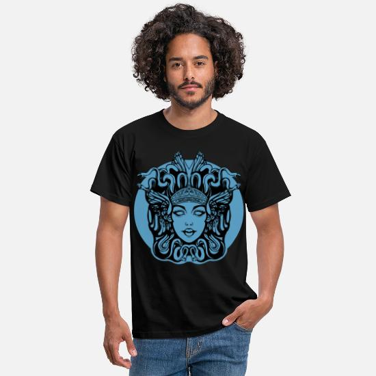 Mythology T-Shirts - blue jellyfish background - Men's T-Shirt black