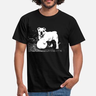 55b91e9b engelsk bulldog. For de som elsker hunder. - T-skjorte for menn