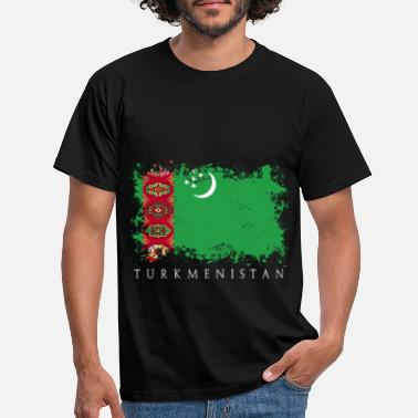 Centralasien Turkmenistan Central Asia flagg land - T-shirt herr