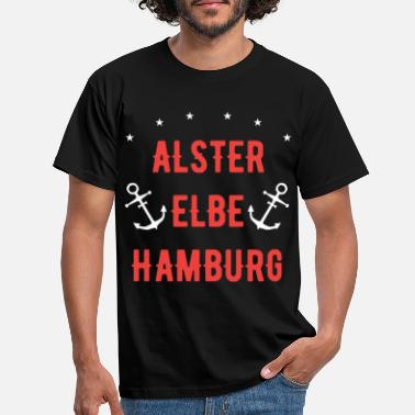 Alster Alster, Elbe, Hamburg - This is my city! - Men's T-Shirt