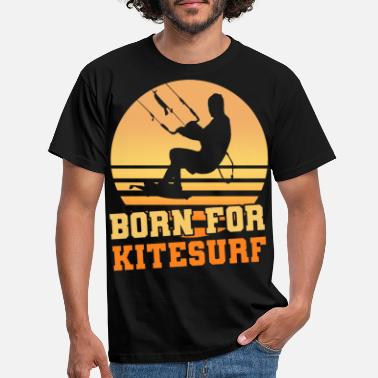 Boarding Kite Surfing Retro Vintage Shirt Sport Gift - Men's T-Shirt