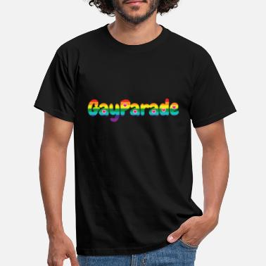 Parade Gay parade in rainbow colors and pink hearts - Men's T-Shirt