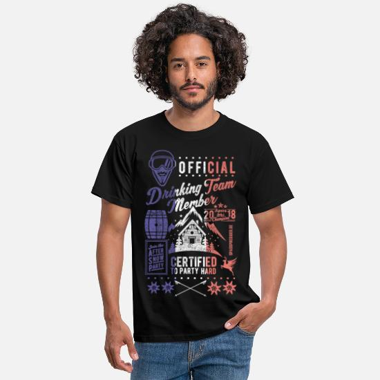 Ski T-shirts - French Drinking Team - T-shirt Homme noir