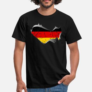 Torn Apart Germany, Germany, torn, torn up - Men's T-Shirt