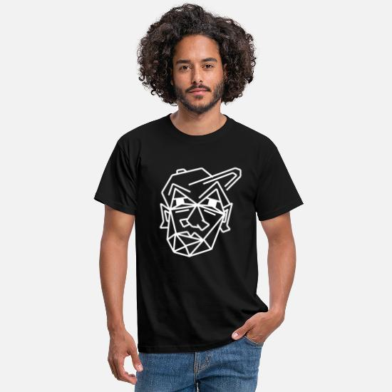 Cool T-Shirts - cool face gift idea tired - Men's T-Shirt black