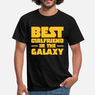 Galaxy Best Girlfriend In The Galaxy - T-shirt mænd