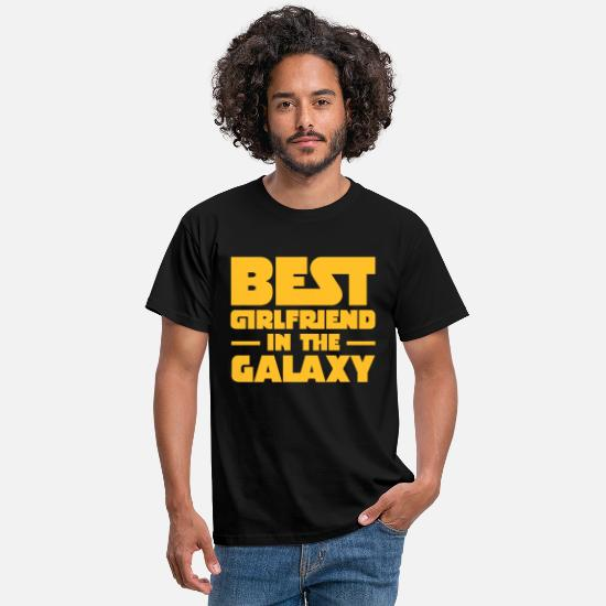 Galaxy T-shirts - Best Girlfriend In The Galaxy - T-shirt herr svart
