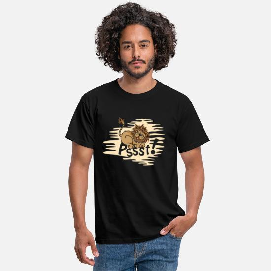 Bed T-Shirts - Little sleeping Lion - Men's T-Shirt black